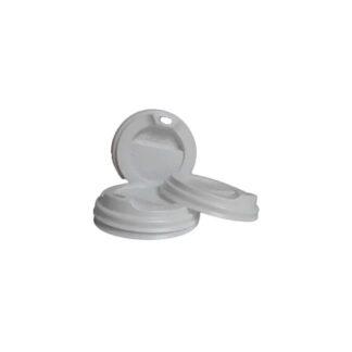 Крышка для бумажного стакана КВ-80, объемом 250 мл, с отверстием, 50 шт./уп. (арт. 16068)