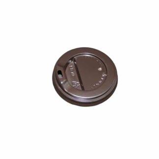 """Крышка для бумажного стакана, объемом 350 мл """"КВ-79"""", с отверстием, цвет коричневый, 50 шт./уп.(арт. 16072)"""
