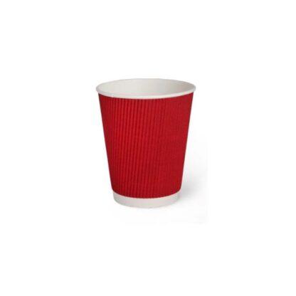 "Стакан бумажный ""Гофра"", цвет красный, объем 250 мл, 25 шт./уп. (арт. 16106)"