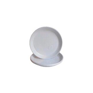 Тарелка без деления, белая, d=20,5 см, 100 шт./уп. (арт. 17002)