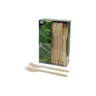 Вилки деревянные, 16,5 см ( 100 шт./уп. )
