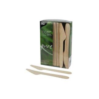 Ножи деревянные, 16,5 см ( 100 шт./уп. )