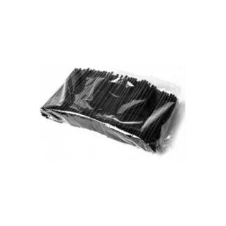 Трубочки мартини, черного цвета, 12,5 см, 200 шт./уп. (арт. 19001)
