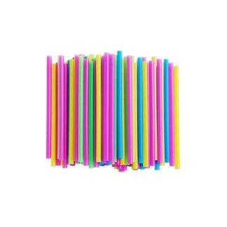 Трубочки мартини, цветные, 12,5 см, 200 шт./уп. (арт. 19002)