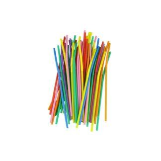 Трубочки с изгибом, прозрачные, 21 см, 1000 шт./уп. (арт. 19005)