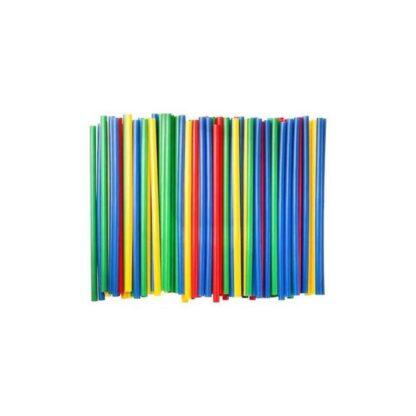 Трубочки для коктейлей, цветные, 21 см, 500 шт./уп. (арт. 19011)