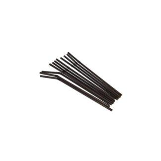 Трубочки для фреша, черные, d=6 mm, 21 см., 500 шт./уп. (арт. 19016)