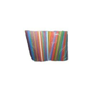 Трубочки для фреша , цветные, d=6 мм, 21 см., 500 шт./уп. (арт. 19017)