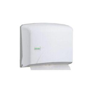 Диспенсер для паперових рушників Z-складання, пластиковий, білий.