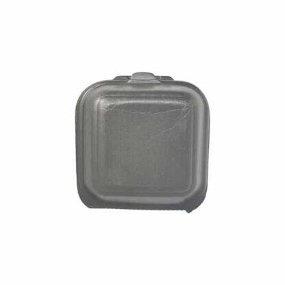 Ланч-бокс без делений с крышкой HP-6, 150 мм*152 мм*60 мм, объем 680 мл, полистирол, черный, 250 шт./уп. (арт.15093)