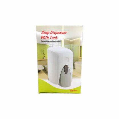 Дозатор для жидкого мыла, белый, 0.5 л, шт. (арт.44042)