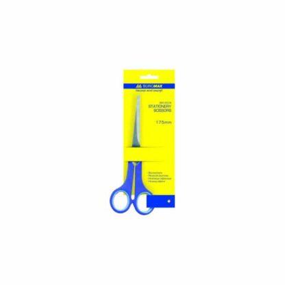 Ножницы, длина 17 см, ручки пластиковые с резиновыми вставками, шт. (арт.45035)