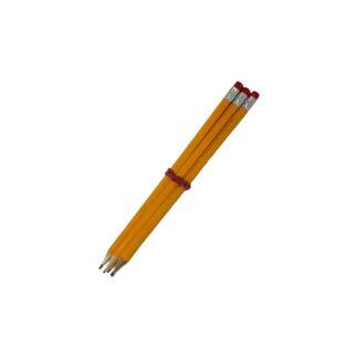 Карандаши графитные НВ, с ластиком, гибкие, цвет асс., 5 шт./уп. (арт.45128)