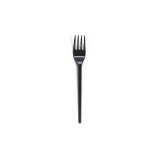 Вилки, 16 см, черные, 100 шт/уп (арт. 18013)