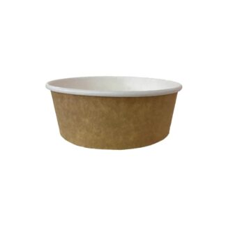 Контейнер бумажный для салата, крафт, 750 мл., d=145 мм, h=56 мм, (арт.15106)