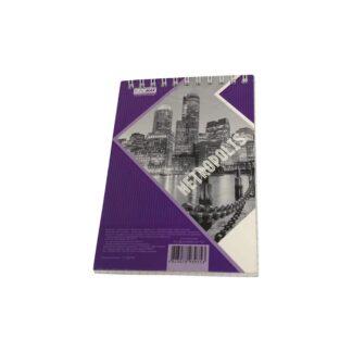 Блокнот А6, фиолетовый, пружина верхняя, в клетку, 48 листов, шт. (арт.45161)