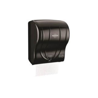 Диспенсер для полотенец Джамбо, б / п, с авто обрезом, черный. (арт. 90014)