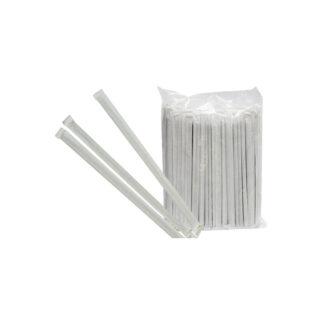 Трубочки с изгибом, 21см, в индивидуальной упаковке, цветные, 200 шт / уп (арт. 19010)
