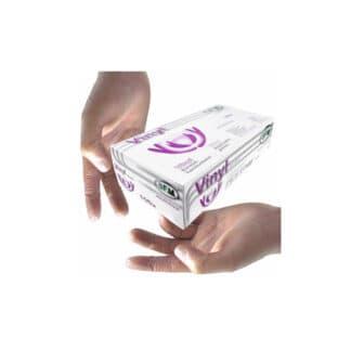 Перчатки разовые, виниловые, L, 100шт / 50пар, прозрачные (арт. 31009)