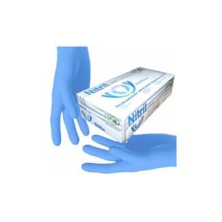 """Перчатки """"SFM"""" нитриловые, разовые, синие М р.8-9 100шт / 50пар (арт. 31220)"""