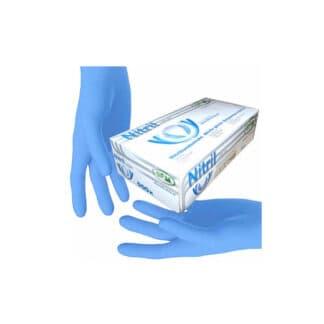 """Перчатки """"SFM"""" нитриловые, разовые, синие S р.8-9 100шт / 50пар (арт. 31221)"""
