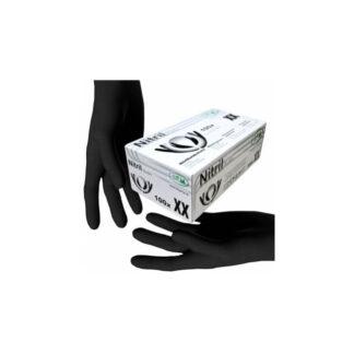 """Перчатки """"SFM"""" нитриловые, разовые, черные, L, р.8-9, 200шт / 100пар (арт. 31171)"""