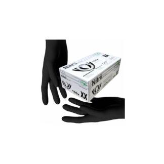 """Перчатки """"SFM"""" нитриловые, разовые, черные, М, р.7-8, 200шт / 100пар (арт. 31172)"""
