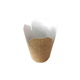 Контейнер бумажный Паста-Бокс, объем, 600мл, крафт, шт (50шт / уп) (арт. 15258)