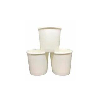 Емкость для супа бумажная, объем 300мл, белая, с крышкой, РР, 50 шт / уп (арт. 15296)