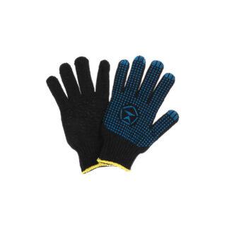 Перчатки Х / Б черные, с ПВХ точкой, черные, 1 пара (арт. 31188)
