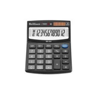Калькулятор BRILLIANT 12р, 199х153х31мм, черный BS-444 (арт. 45062)